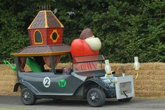 The Creepy Coupe from Wacky Races! The Gruesome Twosome seem to be missing Little Gruesome though.