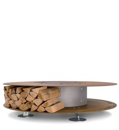 contemporary logstore and fire pit | Zero by Ak47 design