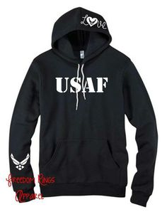 MILSO Hoodie for ALL branches available for $36.80 at Freedomringsapparel.com Air Force Girlfriend, Military Girlfriend, Military Love, Military Spouse, Boyfriend, Airforce Wife, Usmc, Marine Outfit, Marine Love