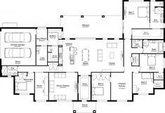 Best House Plans, Dream House Plans, House Floor Plans, Home Design Floor Plans, Plan Design, Storey Homes, House Blueprints, Display Homes, Good House