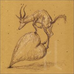 Valentine climb  #sketch #draw #drawing #sketchbook #instaart #drawingoftheday #artsy #art #illustration #heart #valentines2017 #valentinescard #valentineday #valentines #deer