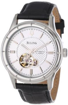 Bulova Men's 96A111 Automatic Strap Silver White Dial Watch: Watches: Amazon.com