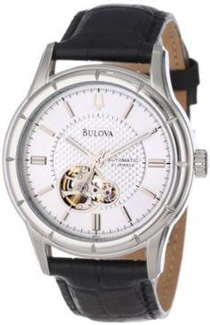 Bulova Men's 96A111 Automatic Strap Silver White Dial Watch: Watches: Amazon.com