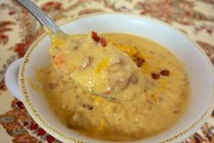 {Slow Cooker} Bacon Cheeseburger Soup