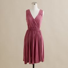 the draping and neckline are perfect for a pear shape (like me), and the color is gorgeous and romantic.