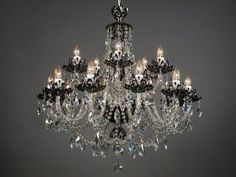 Chrome and black 6 light crystal chandelier pinterest elegant chrome and black 6 light crystal chandelier pinterest elegant chandeliers chandeliers and chrome mozeypictures Image collections