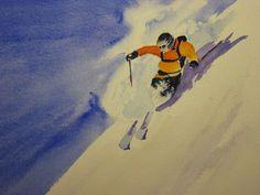 Snow dance 2, watercolour