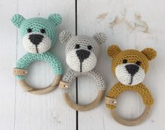 Free Crochet Pattern: Bear Bram -Rattle