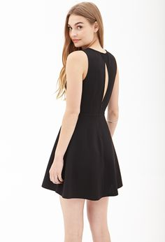 Lace Cutout Skater Dress | FOREVER21 - 2000060372
