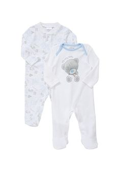 Me To You Tatty Teddy 2 Pack of Sleepsuits