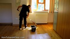 How to refinish a wood floor without sanding. http://www.howtosandafloor.com/how-to-refinish-a-wood-floor-without-sanding/ Find out what products I use here:...