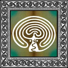 """The Goddess Labyrinth""  The labyrinth is an ancient, powerful tool for meditation, contemplation and ritual. The elaborate, yet simplistic design of this image honors the creative spirit of the Divine Feminine and her Sacred Serpent. The serpent is a reclaimed symbol of fertility, regeneration, and the powerful energies, or ley lines, of the earth. By tracing or walking this special labyrinth, one may receive Her wisdom and guidance, be inspired to create wildly and celebrate the Goddess…"