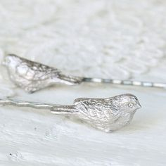 Bobby Hair Pins Beloved Birds in Antique Pewter by WoodlandBelle,
