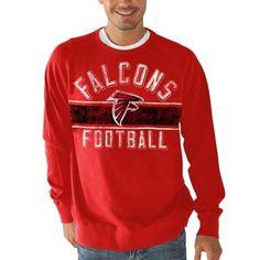 Atlanta Falcons Crossover Sweatshirt - Red
