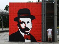 filippo tommaso marinetti paintings | Filippo Tommaso Marinetti #tv boy #street art #graffiti #milan #Italy