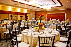 Pamela & Nomer's gorgeous wedding reception in our San Diego Ballroom #westingaslampweddings #sandiegoweddings