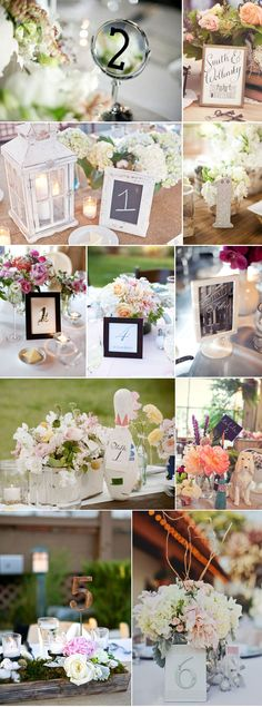 Romantic Table Number Ideas