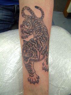grey tiger Tattoo
