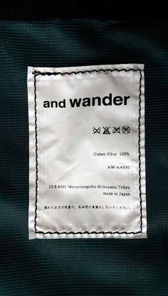 andwander Care Label