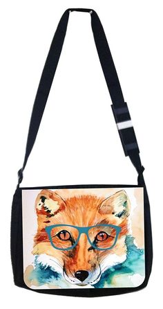 hipster fox Rosie Parker Inc. TM Medium Sized Messenger Bag 11.75' x 15.5' >>> Click on the image for additional details. (This is an Amazon Affiliate link and I receive a commission for the sales)