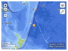 USGS: Earthquake Magnitude 6.3 - 236km ESE of Raoul Island, New Zealand -- Sott.net