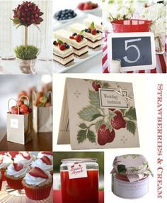 Strawberries & Cream Wedding Inspiration by Lovely Favours - Bridal Musings Wedding Blog