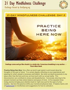 Day 2 mindfulness challenge