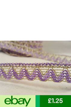 1.5cm Beautiful hot Pink and gold glittery lace trim for designing 1 metre