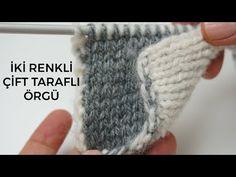 two color double knitting tutorial/Figen Ararat – Harika El işleri-Hobiler Crochet Car, Cute Crochet, Crochet Clothes, Knitting Videos, Knitting Stitches, Knitting Patterns, Vest Pattern, Free Pattern, Knitted Blankets