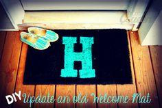 DIY: Update an old Welcome Mat! #DIY #home #craft