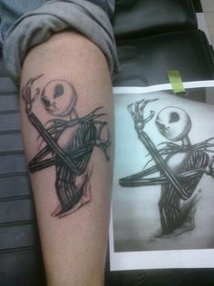 Jack From Nightmare Before Christmas-  Artist- Kevin K - Cedarbluff Alabama  Shop Name- Under Your Skin