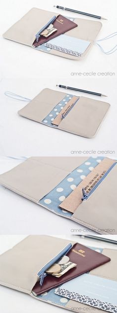 portefeuille cuir original Cowhide Leather, Soft Leather, Gris Taupe, Handmade Wallets, Handmade Leather Wallet, French Brands, Light Blue Color, Artisanal, Selling Online