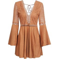 d0a6166ba52 Simplee Women s Sexy V Neck Lace Suede Mini Dress Party Lace Up... (