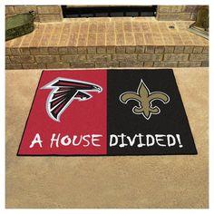 "NFL Atlanta Falcons/New Orleans Saints House Divided Rug 33.75""x42.5"""