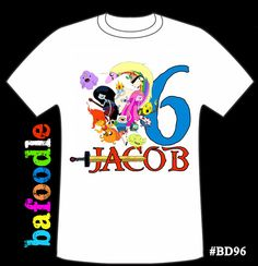 Adventure Time personalized age Tshirt birthday shirt by bafoodle, $13.00