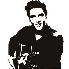 Elvis Presley Celebrity Musician Wall Art Stickers Decal