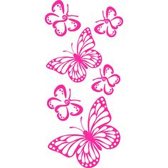 Adesivo de Parade Sweet Butterflies Kapos Magenta (50x100cm)