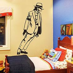 Michael Jackson Dancing Vinyl Wall Decals Sticker Kids Boys Girls Room Decor xab 3354cm >>> You can find more details by visiting the image link.