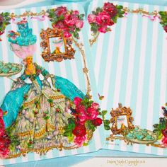 Interesting that when some 'Pinners' place your copyright designs on their pins that they never link them back to the designer.....Not liking what i'm finding.........this is my Marie AntoinetteBlue Cakes and Pink Rose Tea Party invitation. www.PaperNosh.com  Copyright Paulette Kinney