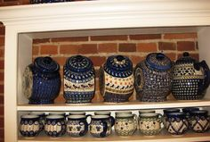 polish pottery cookie jars!  Diana get your passport ready........
