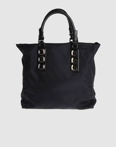 Canvas Tote bag with large faceted rhinestones, rounded leather straps and gunmetal buckles