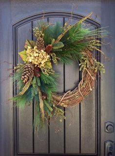 Christmas Wreath-Twig-Winter Wreath-Holiday by AnExtraordinaryGift