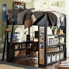 kid-child-room-with-tall-loft-bed-and-loft-study-area-under-the-bed.jpg (JPEG Image, 601 × 601 pixels)