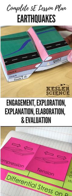 Earthquakes Lesson Plan ready to print and teach the entire Earth Science unit. Includes word wall of vocabulary interactive science notebook template presentation and note worksheet and student choice final project. Complete station lab activity is Earth Science Projects, Earth Science Activities, Earth Science Lessons, Science Experiments, Science Worksheets, Science Vocabulary, Science Words, Vocabulary Wall, Physical Science