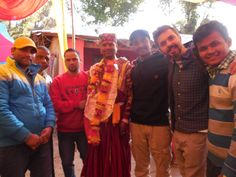 Parveen Getting Married. Staff member Parveen in his wedding outfit with the team. #indianwedding #indiancolors #marriage #dharamsalawedding