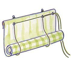Make a roll-up blind - Hang the blind Clever roller blind. Can use blockout in between if desired.