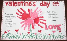 Valentine's Day Handprint Placemat