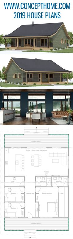 Architektur House Plan House Plan Home Plans House Designs The post House Plan appeared first on Architektur. Pole Barn House Plans, Cabin House Plans, Pole Barn Homes, Ranch House Plans, New House Plans, Dream House Plans, Small House Plans, House Floor Plans, Cabin Plans With Loft