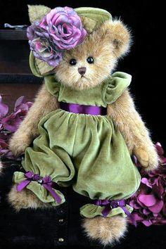 """Bearington Bears """"Charlotte ChapeaU"""" 14"""" Collectible Bear- Sku#179935- NWT- 2012"""