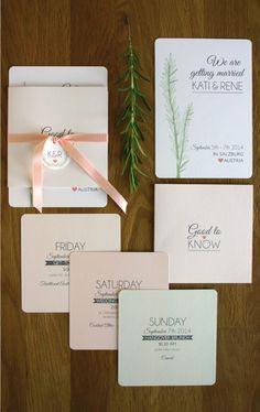 Einladungskarte Rosmarin (Mix Wedding)